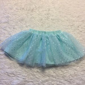 Mint Green and Silver Sparkle Tutu Skirt